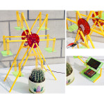 DIY Solar Power Toys Education Assembly Toys Ferris Wheel Solar Powered Toys