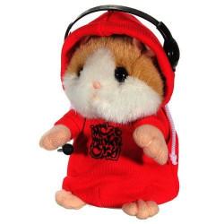 DJ Rapparen Early Learning Bära Kläder Hamster Upprepa Talking Leksak