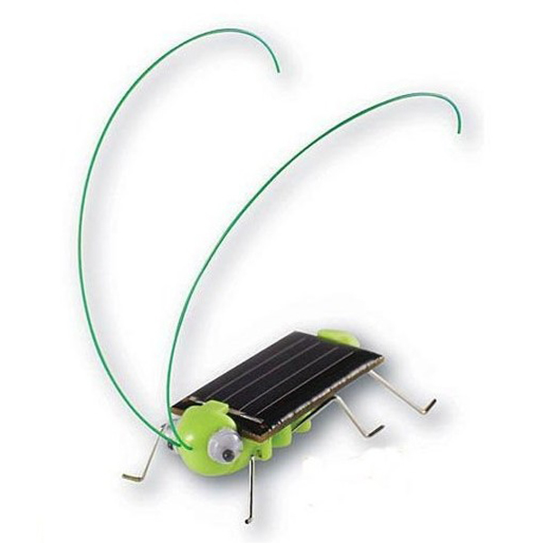 Educational Solar powered Grasshopper Toy Gadget Solar Powered Toys