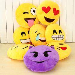 Emoji Smiley Emot Gul Rund Plysch Mjuk Docka Leksak
