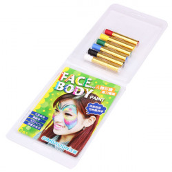 Face Body Måla Magi Krita 6 Färg Makeup Pen
