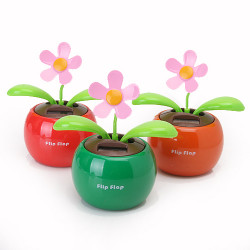 Flip Swing Flap Solar Powered Flower Car Toy Gift