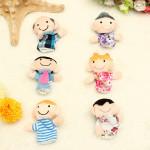 Funny Family Fingerpuppen Geschichte Set Spielzeug Geschenk für Kind Baby Puppen & Kuscheltiere