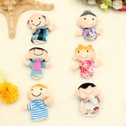 Funny Family Fingerpuppen Geschichte Set Spielzeug Geschenk für Kind Baby