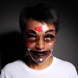 Ghost Hoved Mask Transparent Mask Halloween Mask