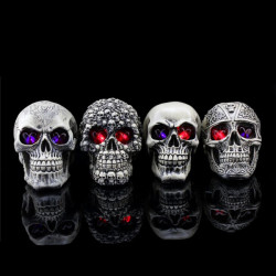 Halloween Decoration Creative Terror Redskaber Resin Skull Dekorationer