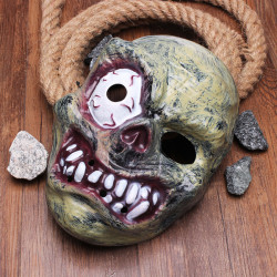 Halloween Monster Zombie Bulging Eye Mask Horror PVC Mask