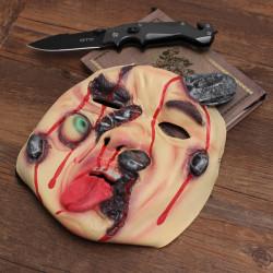 Halloween Party Dekoration Terror Rotten Gesicht Messer Penetration Mask