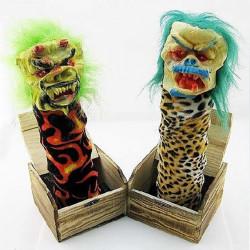 Halloween Holzkiste Horror Trick Streich Elektro Voice Activated Spielzeug
