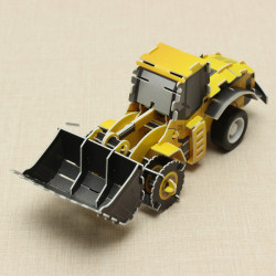 HopeWinning Classic Compages Assemble Toy Bulldozer Wind-up Toy