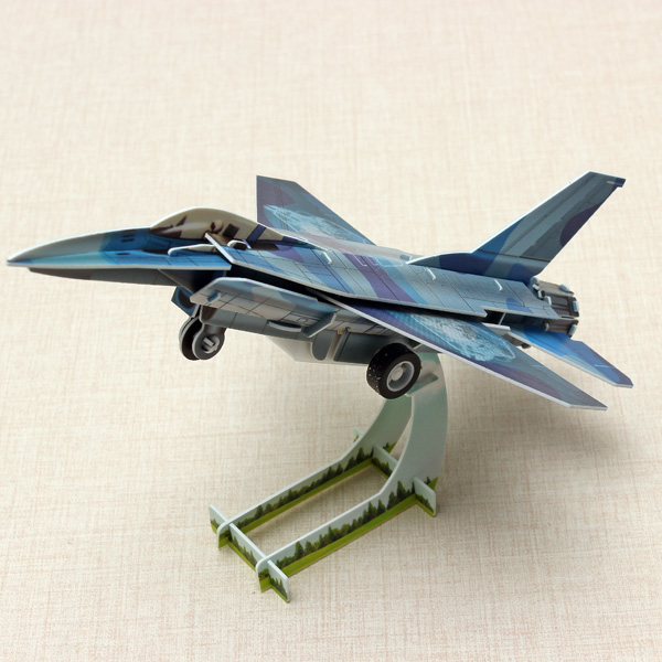 HopeWinning Classic Compages Montera Leksak F16 Fighter Wind-up Leksak Modellbyggsatser
