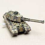 HopeWinning Classic Compages Assemble Toy Military Tank Wind-up Toy Toys Model
