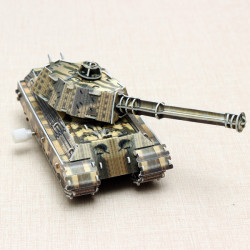 HopeWinning Classic Compages Assemble Toy Military Tank Wind-up Toy