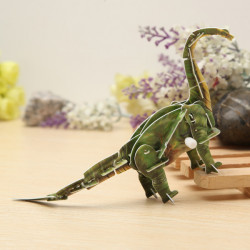 Hopewinning Dinosaur Brachiosaurus Wind-up Toy 3D DIY Educational Toy