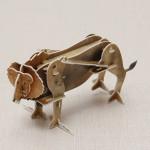 Hopewinning Lion Wind up Puzzle Tiere 3D DIY pädagogisches Spielzeug Spielzeugmodell & Modellbausätze