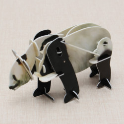 Hopewinning Panda Wind-up Puzzle Animals 3D DIY Educational Toy