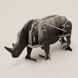 Hopewinning Rhinoceros Wind-up Puzzle Animals 3D DIY Educational Toy