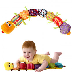Hot Colorful Musical Inchworm Soft Lovely Developmental Kid Toy