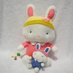 Heiße Verkaufs Plüsch Puppe Punkt Kaninchen Puppe Geburtstagsgeschenk
