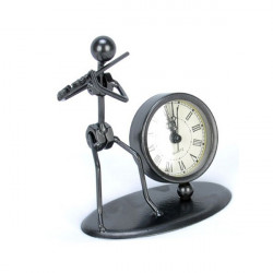 Iron Man Tvärflöjt Clock Creative Crafts Mannekäng
