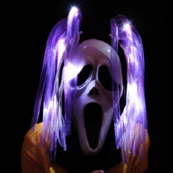 LED Ghost Hair Halloween Prop Costume Bold