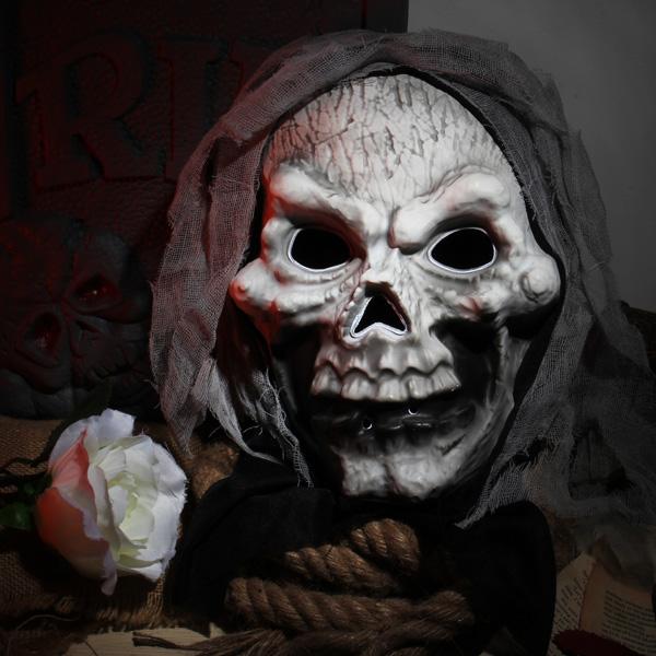 LED Halloween Skalle Mask Skull Face Mask Halloween Props Maskerad / Halloween