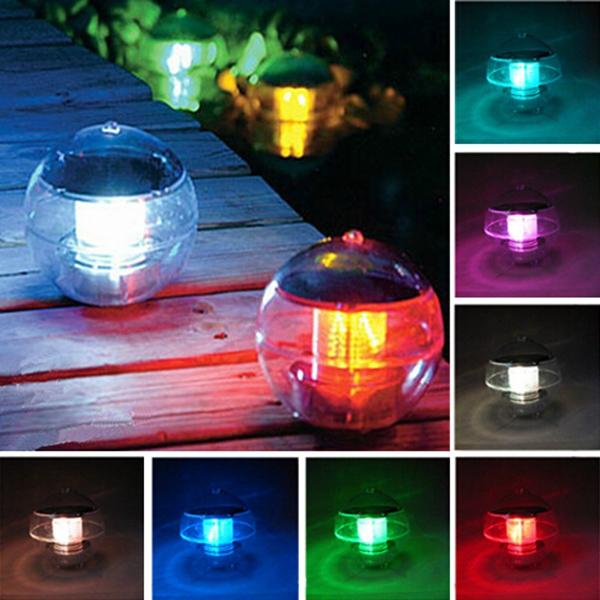 LED Solar Powered Ljus Garden Spotlight Liggande flöt Ljus Soldrivna Leksaker