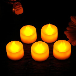 Led Electronic Candle Yellow Lights Romantic Birthday