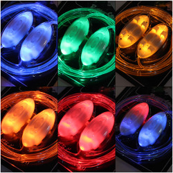 Light Up LED Neon Snørebånd Party Disco Snørebånd