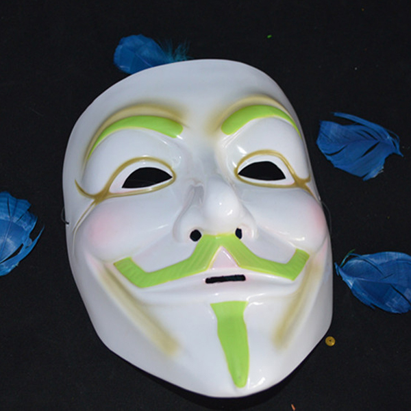 Luminous Halloween Karneval Requisiten Luminous V Wort Vendetta Maske Halloween / Maskerade