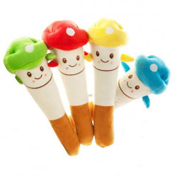 Mushroom Head Plush Knock Leksak Massage Hammare Massage Stick