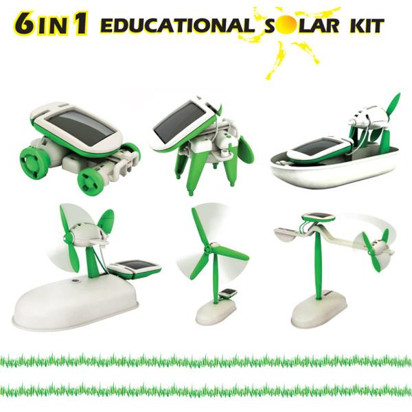 New 6 In 1 Educational Solar Toys Kit Robot Chameleon Solar Powered Toys