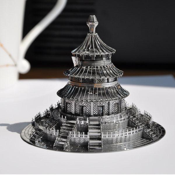 Piececool 3D Montering Temple of Heaven Building Pussel Leksaker Modellbyggsatser