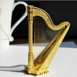 Piececool DIY Metal Harp 3D Puzzle Assembly Decoration Toys