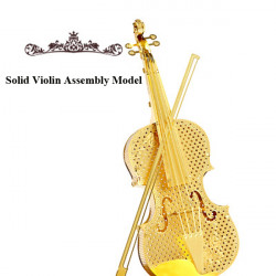 Piececool DIY Metal Solid Violin Simulation Assembly Toys Model
