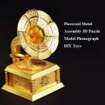 Piececool Metallbefestigungs 3D Puzzle Modell Plattenspieler DIY Spielzeug Spielzeugmodell & Modellbausätze