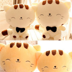 Plush Toys And Lovely Big Face Cat Plutus Cat Big Tail Happy Cat