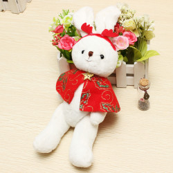 Plüschtiere Red Cape Kaninchen Puppe Kinder Spielzeug Weihnachtsgeschenk