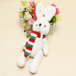 Plüschtiere Schal weiße Kaninchen Puppe Kinder Spielzeug Weihnachtsgeschenk