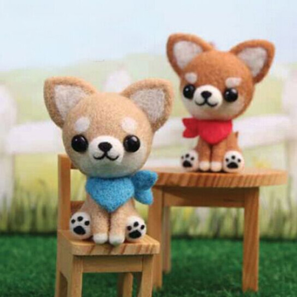 Poke Poke Fun DIY Dog DIY Plush Phone Chain Dolls & Stuffed Toys