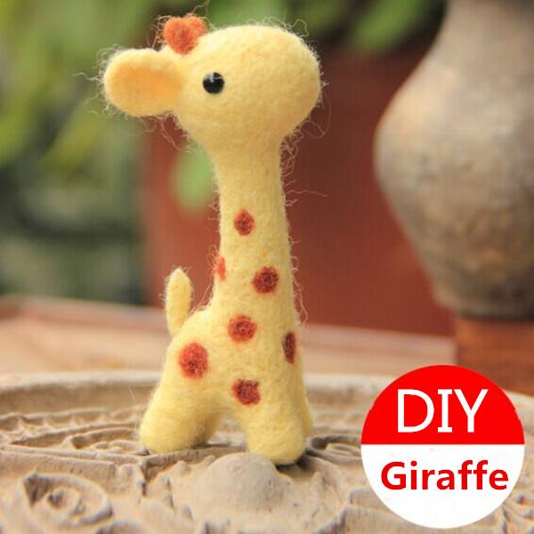 Poke Kul DIY Giraffe DIY Plush Telefon Kedja Dockor & Gosedjur