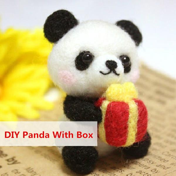 Poke Poke Fun DIY Panda DIY Plush Phone Chain Dolls & Stuffed Toys