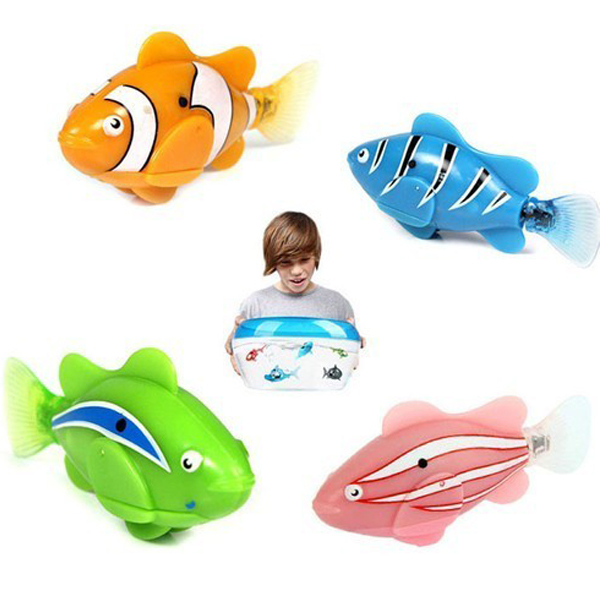 Popular Colorful Robot Electric Fish Toy Gifts for Kids Children Classic & Retro Toys