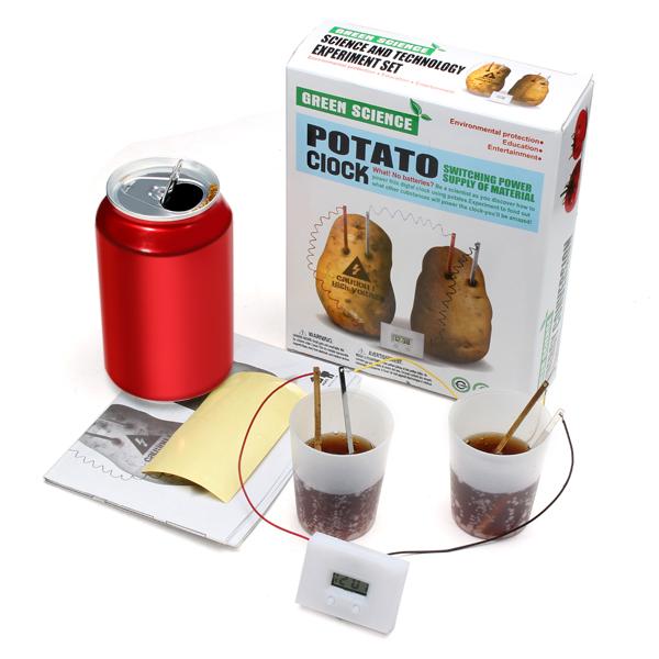 Potato Clock Material Supply Digital Clock Solar Powered Toys