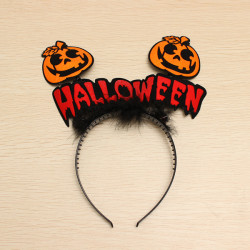 Pumpkin Head Hoop Hår Tillbehör Halloween Tecknad Pumpa Tillbehör