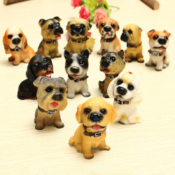 Puppy 12 Cute Animal Simulation Resin Puppe Weihnachtsgeschenk