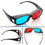 Röd Blå 3D-glasögon Ram för Dimensions Anaglyph Movie DVD Spel Classic & Retro Leksaker