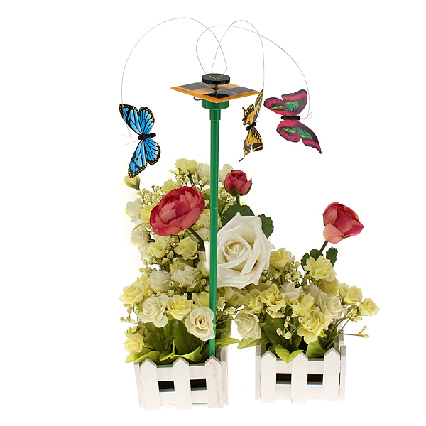 Solar Ström Flying Color Butterfly Garden Yard dekoration 3 PCS / Set Soldrivna Leksaker