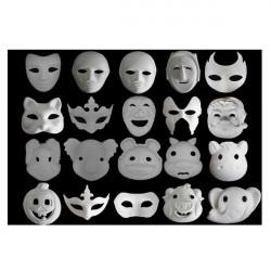 Unpainted Plain Blank Version Paper Pulp Mask SNA006c90
