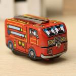 Vintage Fire Chief Brandman Bil Truck Clockwork Wind Up Tin Leksaks Classic & Retro Leksaker